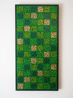 Green patterned painting