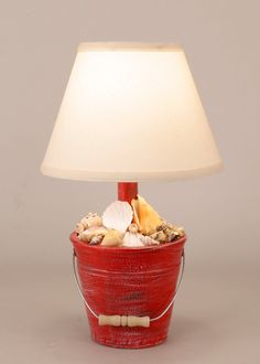 Mini Bucket of Shells Accent Lamp
