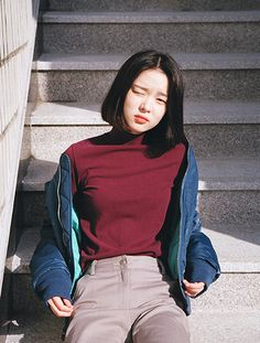 Image about girl in pretty people by Alisa on We Heart It Asian Fashion, Look Fashion, Girl Fashion, Fashion Tips, Style Ulzzang, Ulzzang Girl, Korean Girl, Asian Girl, Korean Short Hair