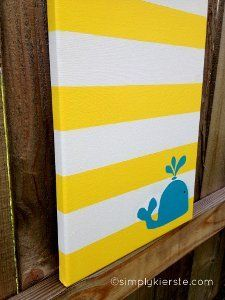 Cradle Cute Canvas Art | AllFreeHolidayCrafts.com