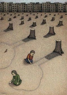 Illustration SadWe cannot afford to let this become our world& future. Our health and the h. Art Environnemental, Ap Art, Satirical Illustrations, Meaningful Pictures, Inspiring Pictures, Save Our Earth, Political Art, Political Cartoons, Inspiration Art