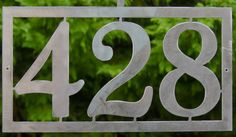 Modern House Numbers / Address Sign / Up to 5 by GlamorousFindings House Number Plaque, House Numbers, Custom Metal Work, Porche, Fancy Houses, Composite Door, Home Signs, Porch Decorating, House Painting