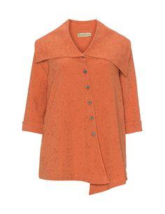 Isolde Roth Asymmetric collar blouse  in Orange