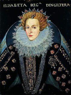 """1592, """"Queen Elizabeth I,"""" artist unknown"""