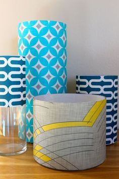 Cute idea. decals to cover glass vases is a great way to bring color and fun to your home