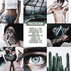 Vsco Instagram bright green toned filter