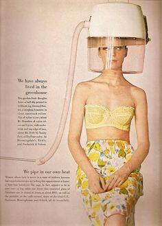 fbc75bb152c75 Vanity Fair advertisement from 1963 - lemon bra and floral half slip Vanity  Fair Lingerie