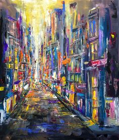 'Where the streets have no name' - oil on panel. 600 x 500 mm. For Sale.
