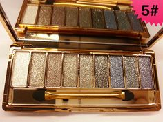 9 colors New women diamond bright colorful makeup eye shadow super make up set flash Glitter eyeshadow palette with brush