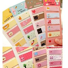 Cute Cartoon Sticker Office Post It Bookmark Marker Memo Index Tab Sticky Notes : Office Products