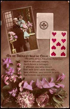 Vintage Postcard, Carti de tarot