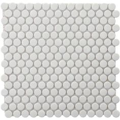 Laundry room floor; $5.47/sf penny round tile.