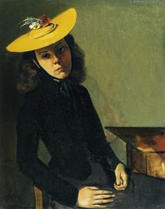 Balthasar Klossowski(Balthus), The Yellow Hat
