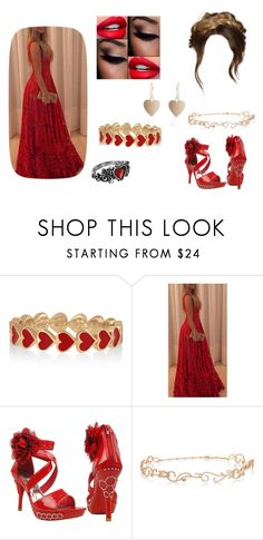 """""""Flaming red lovers"""" by thebroken19 ❤ liked on Polyvore featuring Alison Lou and Diane Kordas"""