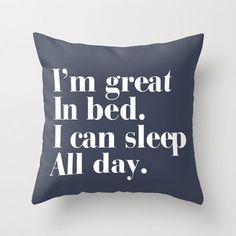 Great in bed blue cushion cover