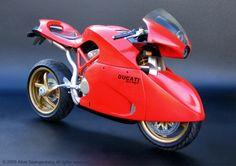 Motorcycle Ducati Strega by Albie Spangenberg at Coroflot.com