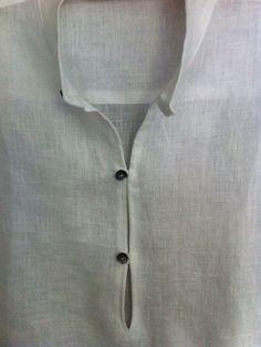 Man white linen shirt beach wedding party от Maliposhaclothes
