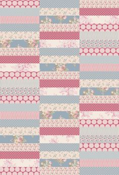 Tilda Fabrics 4 inches by 20 inches blocks Strip Quilts, Easy Quilts, Quilt Blocks, Small Quilts, Mini Quilts, Quilt Inspiration, Plaid Quilt, Jellyroll Quilts, Tiny Treasures