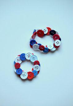 patriotic button bracelets