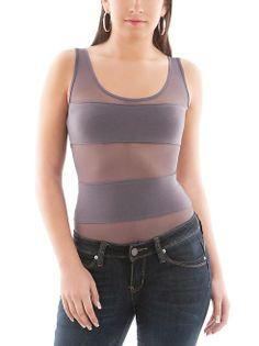 dots: Mesh Striped Bodysuit