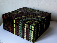 Mosaic Crafts, Mosaic Projects, Mosaic Art, Mosaic Glass, Glass Art, Cigar Boxes, Glass Boxes, Home Decor Accessories, Decorative Boxes