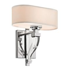 Kichler Lighting 42655CH Point Claire Wall Sconce, Chrome