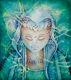 When you need some comfort, this painting brings it to you.  Her compassion is felt, and she teaches us how to love.    Evokes: Blessings of Peace
