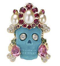 Dior Joaillerie Coffret de Victoire Skull Ring turquoise Created by designer Victoire de Castellane 2008