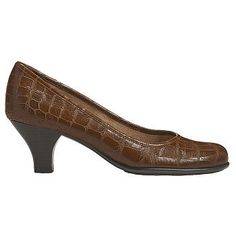 Aerosoles Wise Guy Shoes (Dk Tan Croco) - Women's Shoes - 5.0 M