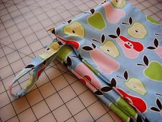 Make your own wet-bags! I had bought several when my Little Dude was a baby. You could always have a grocery sack, etc but these are so much cuter. :-)