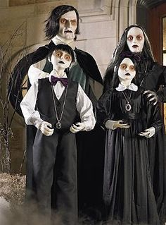 Oh My  Now they have an entire family  I guess I m gonna have to get the  father and the son now  Life size Jasper Vampire Father from Grandin Road  Halloween  Pathway Framed Canvas Print. Martha Stewart Halloween Costumes Grandin Road. Home Design Ideas