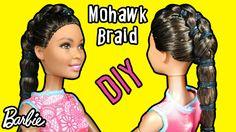 How to Make Mohawk Braid Hair for Barbie - DIY Doll Hair Tutorial