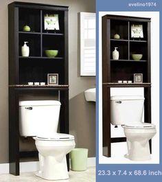 Bathroom Space Saver Shelves Over The Toilet Organizer Wood ...