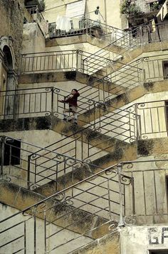 KANTYcz | creative block - desanormal: Sicily, Leonforte: Old stairs, 1985.