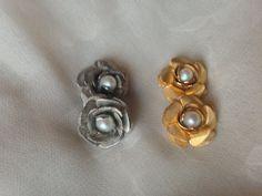 Organic 'Secret Garden' Rose & Pearl Plugs in by DarlingOrganic, $45.00