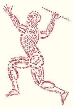 Muscular Typogram by Aaron Kuehn