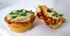 Mini Deep Dish BBQ Chicken Pizzas - How CUTE are these? And delicious too, natch.