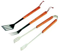 Campingaz 205819 Set of Luxury Utensils with Wooden Handles