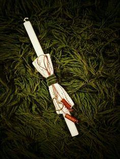Λαμπαδες!!!! Easter Ideas, Easter Crafts, Decorated Candles, Easter Candle, Palm Sunday, Christening, Decoupage, Greek, Wraps