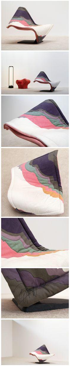 Flying carpet chair designed by Simon Desanta for Rosenthal 1988