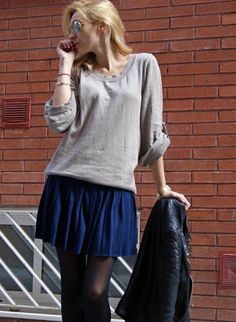 Blue skirt  , H & M en Faldas