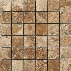 Montagna 12 in. x 12 in. Belluno Noce Porcelain Mesh-Mounted Mosaic Tile-UGA4 at The Home Depot