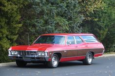 1967 Chevrolet Caprice Station Wagon presented as Lot at Indianapolis, IN Chevrolet Caprice, Chevrolet Chevelle, Gta, Station Wagon Cars, Old Wagons, New Sports Cars, Sport Cars, Classic Chevrolet, Chevy Impala