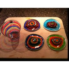 Cups and sharpies melted into stained glasses. Cute summer project!