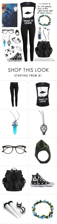 """""""Life Is Just a Pretty Game We Don't Want to Play"""" by melancholymaven ❤ liked on Polyvore featuring Hot Topic, Illesteva, Lady Grey, Givenchy, Converse and Skullcandy"""