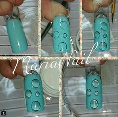 Water 3d Nail Art, 3d Nails, Cool Nail Art, Nail Arts, Acrylic Nails, Spring Nail Art, Spring Nails, Summer Nails, Nail Art Techniques