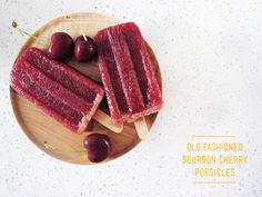 old fashioned bourbon cherry popsicles