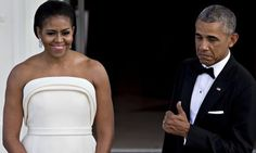 Michelle Obama's Stunning State Dinner Gown Gets A Big Thumbs Up From The President   Huffington Post