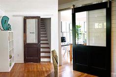 Son prácticas porque no requieren obra y permiten ahorrar espacio; mirá estas propuestas para aplicar este tipo de abertura en tu casa