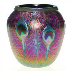C. Lotton vase, peacock feather